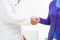 End of the appointment a handshake at doctor s Royalty Free Stock Photo