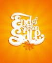 End of autumn season sale typographic illustration vector Stock Photos