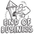 End of business whistle sketch Stock Photography