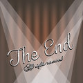 The end label over beige background vector illustration Royalty Free Stock Photo