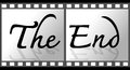 End movie screen design Royalty Free Stock Photography