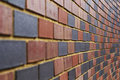 End Less Multi Colour Brick Wall Royalty Free Stock Photos
