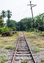 End of old railway line Royalty Free Stock Photo