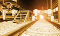 End of rail track at a train station Stock Photography