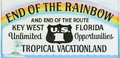 End of The Rainbow Sign Key West Florida Royalty Free Stock Photo