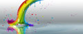 End of the rainbow splash on a light background Royalty Free Stock Photo
