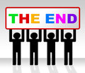 The end represents final finale and conclusion showing finished Royalty Free Stock Images