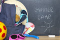 End of school summer holiday camp concept Royalty Free Stock Photo