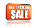 End of season sale orange banner Royalty Free Stock Photo