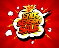 End of season sale poster design concept Royalty Free Stock Photo