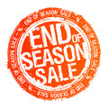 End of season sale rubber stamp