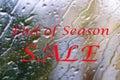 End of season sale.