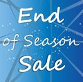 End of Season Sale word on colour sky and star for Your Business