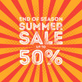 End of season summer big sale banner Royalty Free Stock Photo
