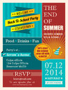 End of summer party poster or card design template Royalty Free Stock Photo