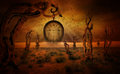 At the end of time fantasy background for your manipulations Royalty Free Stock Image