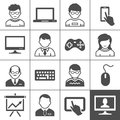 End user devices personal and users vector illustration simplus series Royalty Free Stock Photos