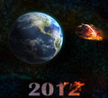 End of the world 2012 illustration Royalty Free Stock Photos