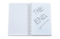 End written notebook isolated white background Stock Photo