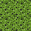 Endless atypical pattern on a green background Stock Image