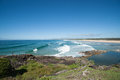 Endless beach sawtell new south wale australia Royalty Free Stock Images