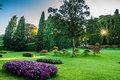 Endless gardens the of sigurta in valeggio sul mincio in late summer Stock Photography