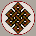 The endless knot ornate sacred symbol of rebirth s concatenation in buddhism version Stock Photos