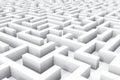 Endless labyrinth Royalty Free Stock Photo