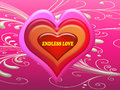 Endless love message on the heart in Valentine day Royalty Free Stock Photo