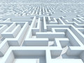 Endless maze high quality d render Royalty Free Stock Images