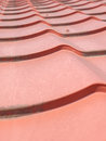 Endless red roof Royalty Free Stock Photo