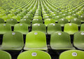 Endless rows of green seats at stadium Stock Photography