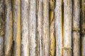 Endless seamless wall brown bamboo to use as texture as wallpaper were photographed real old fence Royalty Free Stock Image