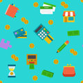 Endless shoping and banking background colored Stock Images