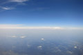 Endless sky aerial photograph of cloudless over europe Stock Image