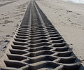 Endless tire track Royalty Free Stock Photography