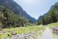 Endless width of the samaria gorge crete greece Stock Photo