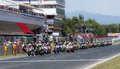 Endurance hours moto race catalunya hores resistencia that celebrates at circuit of barcelona at barcelona spain on days july Royalty Free Stock Photo