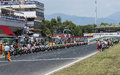 Endurance hours moto race catalunya hores resistencia that celebrates at circuit of barcelona at barcelona spain on days july Stock Images