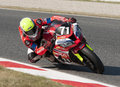 Endurance hours moto race catalunya hores resistencia that celebrates at circuit of barcelona at barcelona spain on days july Stock Image