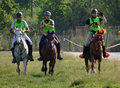 Endurance riding championship finish line Royalty Free Stock Photo