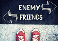 Enemy and friends Royalty Free Stock Photo