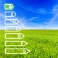 Energetic efficiency Royalty Free Stock Photo