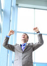 Energetic young businessman portrait of a Stock Images