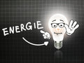 Energie Bulb Lamp Energy Light blackboard Royalty Free Stock Photo