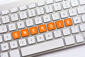 ENERGIE writing on white keyboard Royalty Free Stock Photo