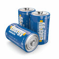 Energy batteries Royalty Free Stock Photo