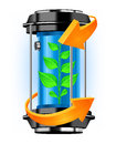 Energy container with plant Stock Photo