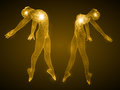 Energy of the dancing man and girl figures. Royalty Free Stock Photo