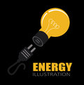 Energy design over black background vector illustration Royalty Free Stock Image